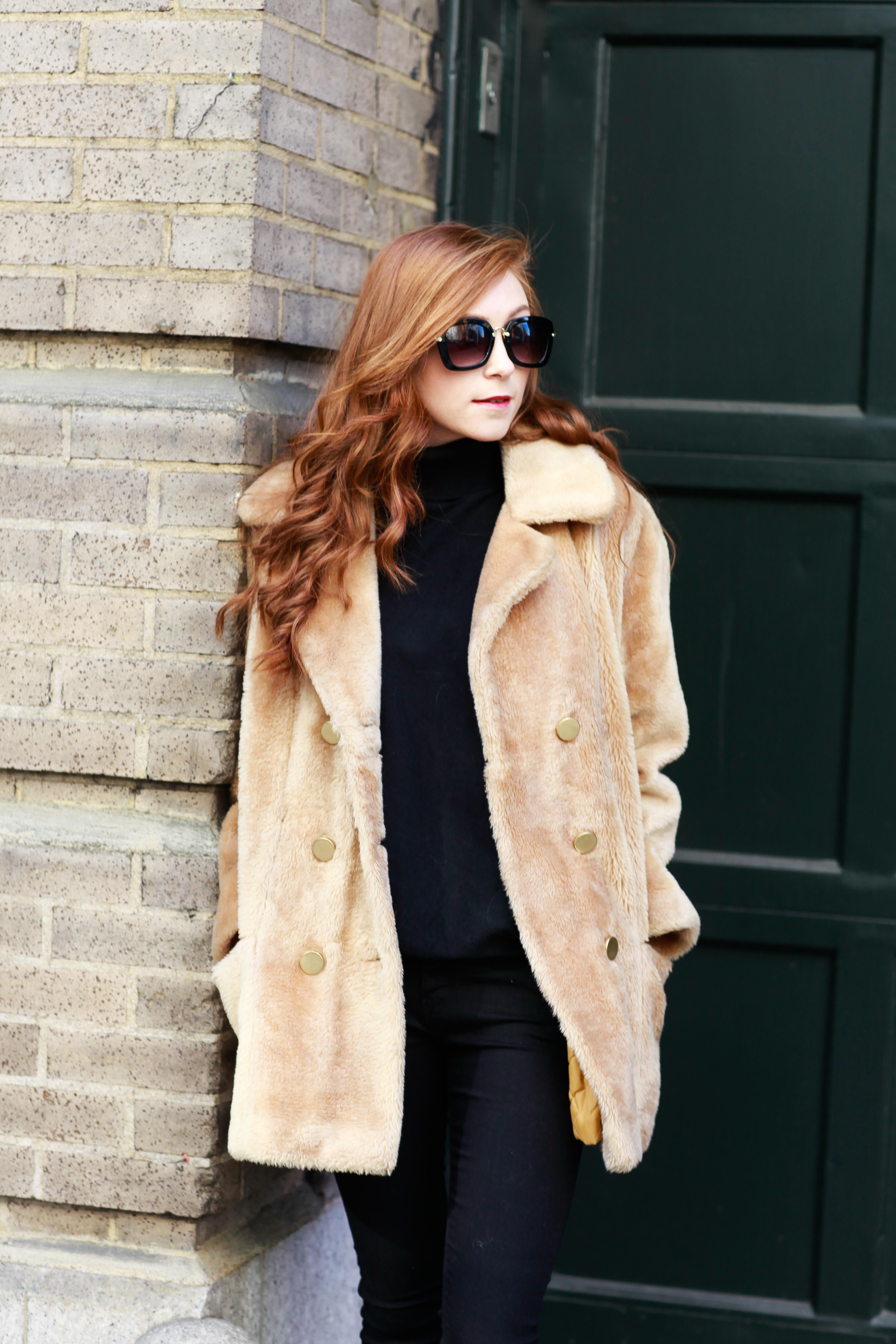 Vintage Touch - Faux Fur Coat - NYC Style