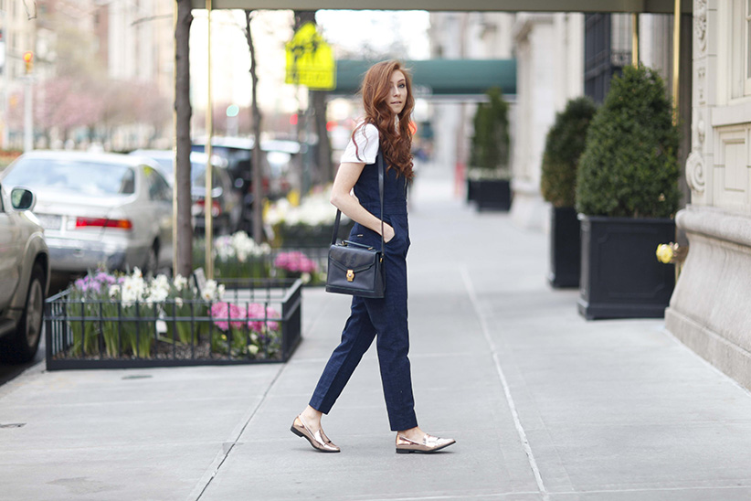 7FAM Shaping Style - Denim Jumpsuit - New York Style