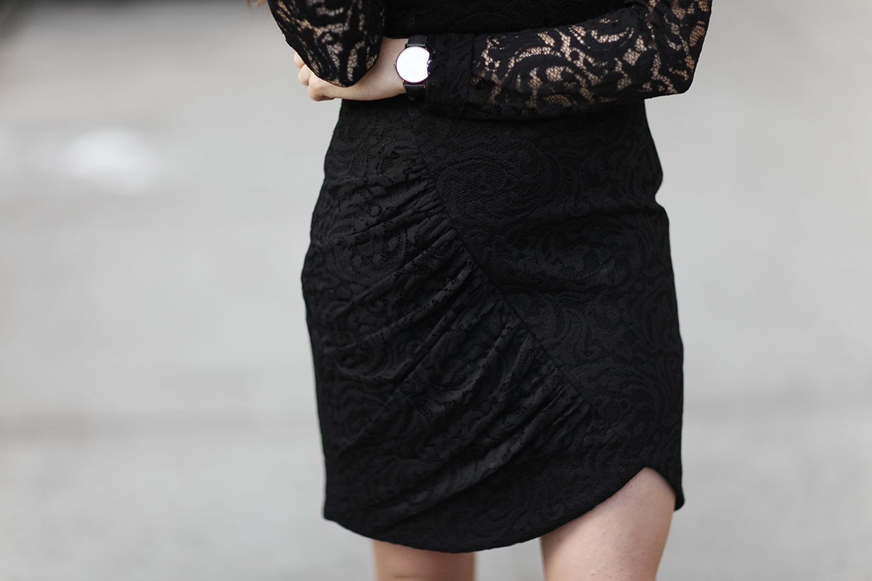 Parker NY - Black Lace Dress