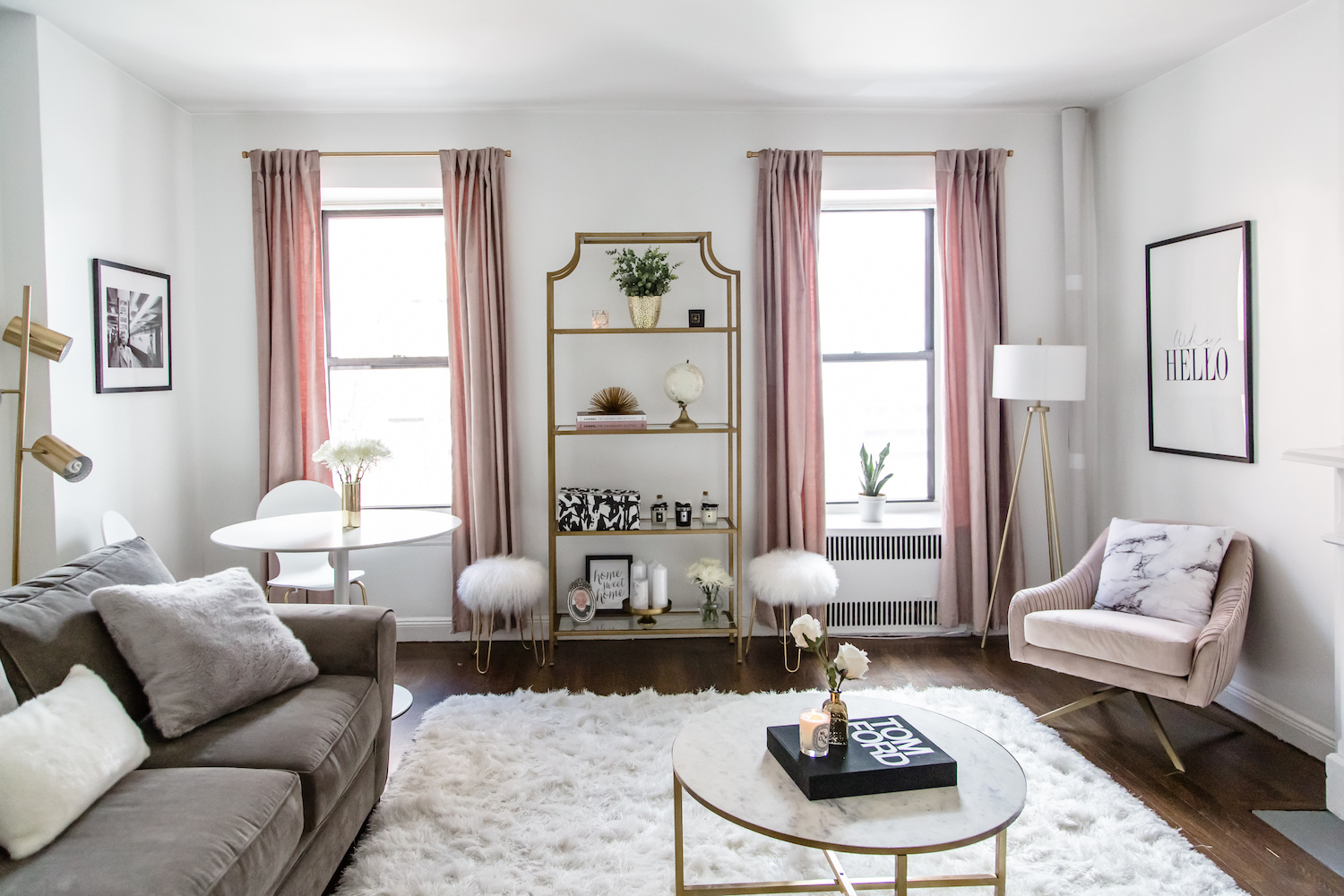 Living room tour living room transformation nyc - Decor ideas for living room apartment ...